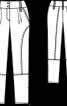 Брюки з рельєфними швами - фото 3