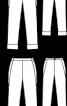 Брюки вузького крою з одворотами - фото 3