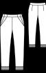 Брюки жакардові з боковими кишенями - фото 3