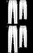 Брюки трикотажні зі складками-стрілками - фото 3