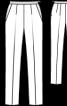 Брюки класичного крою на контрастному поясі - фото 3