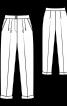 Брюки зі складками біля пояса і одворотами внизу штанин - фото 3