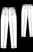 Брюки довжиною 7/8 зі складками біля пояса - фото 3