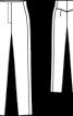 Брюки вузького крою з високою талією - фото 3
