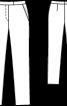 Брюки завуженого крою на фігурному поясі - фото 3