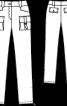 Брюки вузького крою з кишенями-портфелями - фото 3