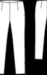 Брюки вузького крою з еластичної тканини - фото 3