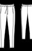 Брюки вузького крою на еластичному поясі - фото 3