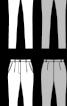 Брюки завуженого крою з одворотами - фото 3