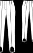 Брюки вельветові зі штрипками - фото 3