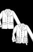 Піджак однобортний з патами на рукавах - фото 3