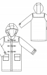 Пальто дафлкот із застібкою на блискавку - фото 3