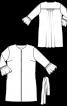 Блуза видовженого силуету з оборками на рукавах - фото 3