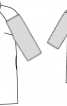 Пальто двобортне з хутряними рукавами - фото 3