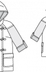 Дафлкот двобортний з капюшоном - фото 3