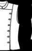 Жилет двобортний з коміром-стойкою - фото 3