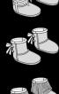 Капці-уггі з атласним бантом - фото 3