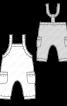 Напівкомбінезон трикотажний з кишенями - фото 3