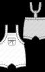 Напівкомбінезон короткий з нагрудною кишенею - фото 3