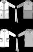 Халат махровий з накладними кишенями - фото 3