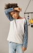 Пуловер прямого крою з рукавами реглан - фото 4