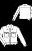 Куртка вельветовая с накладными карманами - фото 3