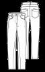 Брюки в джинсовому стилі з рельєфними швами - фото 2