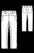 Джинсовые брюки на эластичном поясе - фото 3