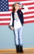 Брюки в джинсовому стилі для дівчинки - фото 1