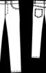 Брюки в джинсовому стилі для дівчинки  - фото 3