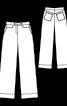 Брюки в джинсовому стилі з високою талією - фото 3