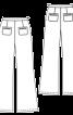 Джинси розкльошеного крою з високою талією - фото 3