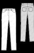 Брюки вузькі в стилі класичних джинсів - фото 3
