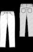 Брюки довжиною 7/8 в джинсовому стилі - фото 3
