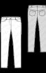Брюки в джинсовому стилі з низькою посадкою - фото 3