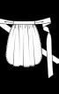 Фартух з широкими зав'язками - фото 3