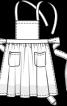 Фартух із нагрудником і двома кишенями - фото 3