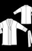 Халат трикотажний з шалевим коміром - фото 3