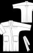 Халат із суцільнокроєними рукавами - фото 3
