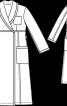 Халат купальний з шалевим коміром - фото 3