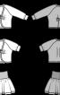 Кардиган з рукавами реглан і пишна спідниця - фото 3