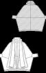 Кардиган букле з коміром-шарфом - фото 3