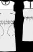 Сукня простого крою із шовкового оксамиту - фото 3