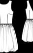 Сукня коктейльна зі спідницею-балон - фото 3