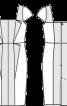 Сукня коктейльна з прямокутним декольте - фото 3