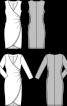 Сукня приталеного силуету з запахом і драпіровками - фото 3