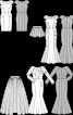 Сукня-футляр атласна з короткими рукавами реглан - фото 3