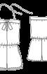 Комбінезон короткий замшевий з бретеллю-петлею - фото 3