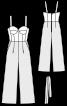 Комбінезон-корсаж із широкими брюками - фото 3