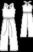 Комбінезон на бретелях і з широкими брюками - фото 3